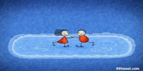 navidad de patinaje sobre hielo