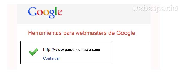 sitio web verificado en google
