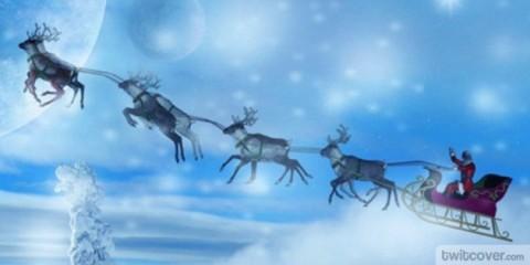 trineo de santa claus en navidad