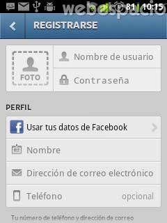 completar registro en instagram