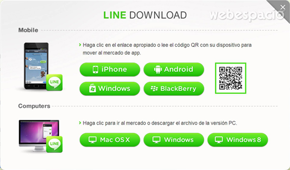 descarga line