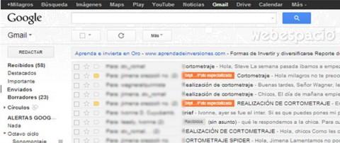 mensajes etiquetados en gmail
