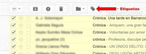 seleccionar etiquetas en gmail