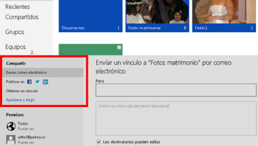 compartir archivos en skydrive de outlook