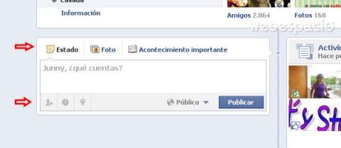 publicar fotos y mensajes en facebook