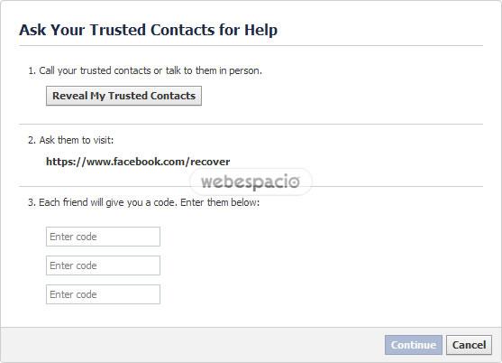pide ayuda contactos confianza