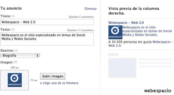 anuncio en facebook