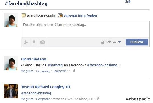 crear hashtag facebook