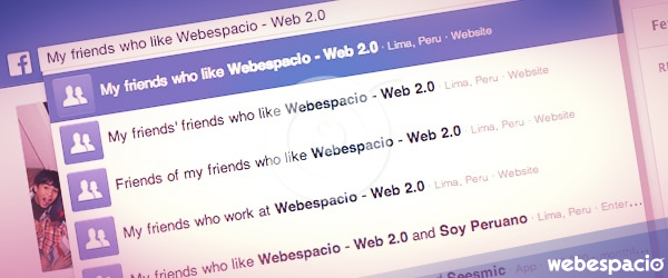 posicionamiento facebook graph search