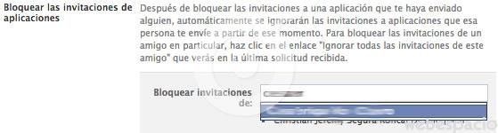 bloquear invitaciones