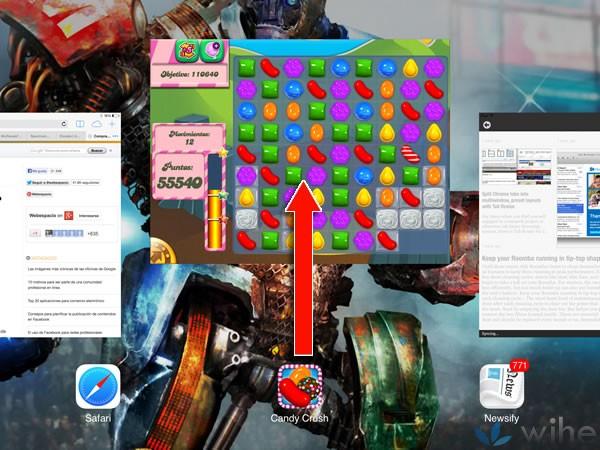 deslizar arriba app ios7