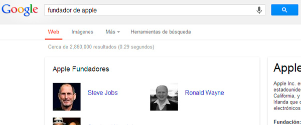 fundador de Apple en google