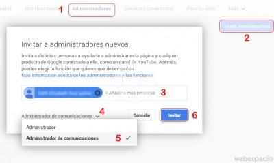 agregar administradores google+