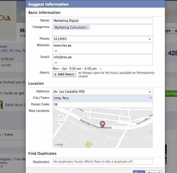 cambiar nombre pagina facebook