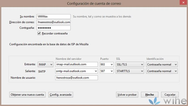cuenta correo outlook