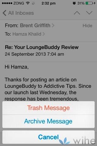 eliminar mensajes individuales en iOS7