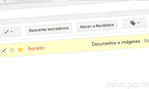 guardar correo gmail en borrador