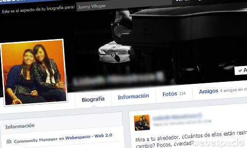ver como ve una persona en concreto mi perfil de facebook