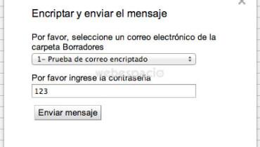 encriptar y enviar correo gmail