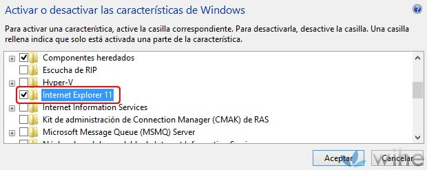 desactivar internet explorer 11