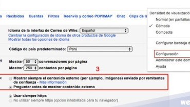 ocultar imagenes gmail