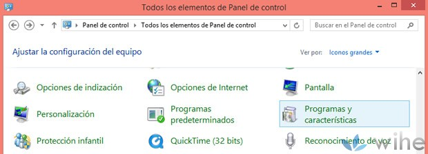 programas caracteristicas windows8