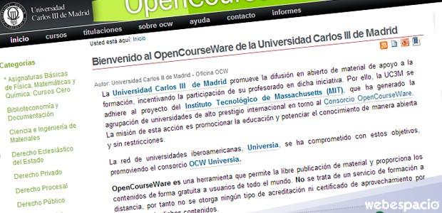 OpenCourseWare de la Universidad Carlos III de Madrid