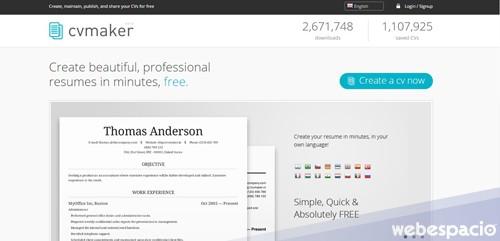 20 herramientas para crear un currículum vitae online