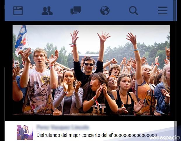 Fotos o videos de conciertos