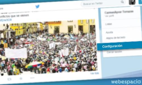 paso2 desactivar twitter