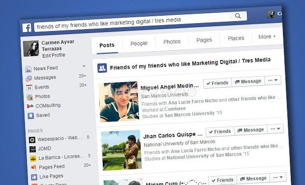 amigos-de-amigos-fans de una pagina facebook
