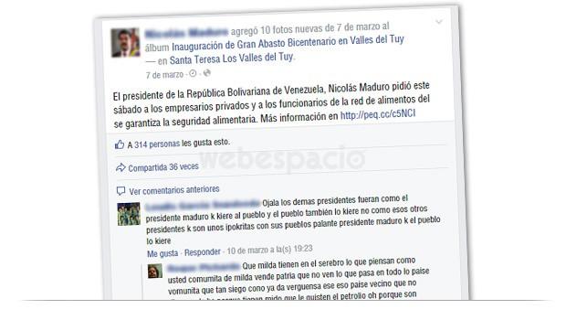 contenidos politicos facebook