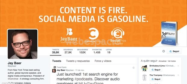 ejemplo diseño portada twitter