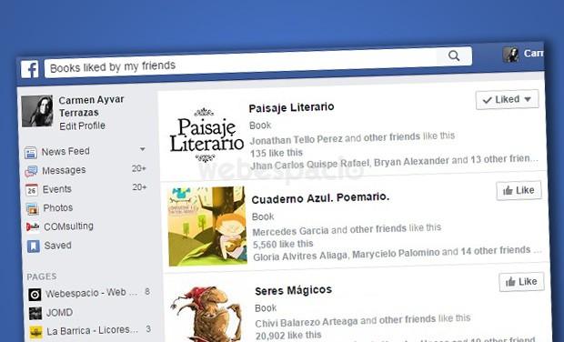 libros que gustan amigos facebook