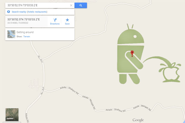 mapa google android apple