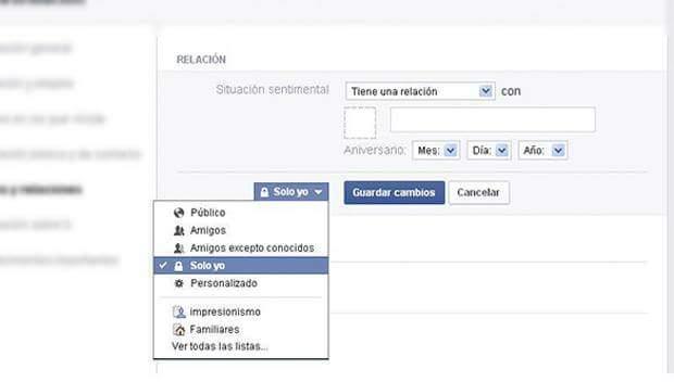 relacion facebook