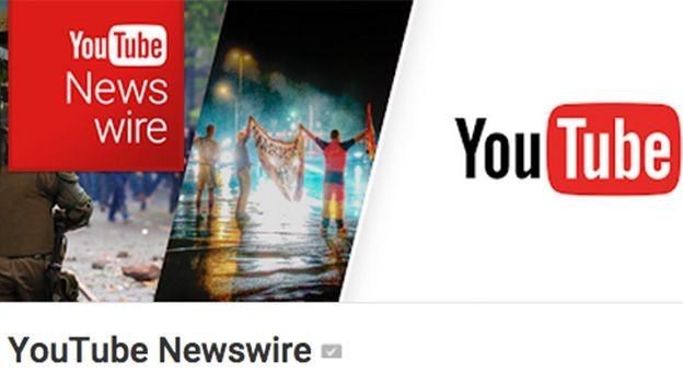 interfaz de youtube newswire
