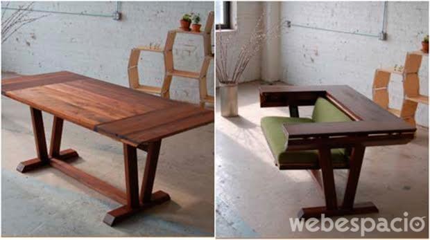 Muebles para ahorrar espacio muebles para ahorrar espacio for Mueble que se convierte en mesa