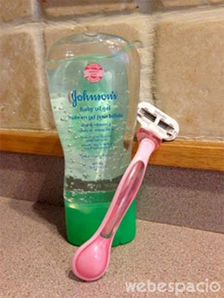 usar aceite de bebe como crema de afeitar