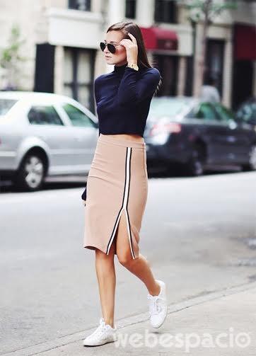 zapatillas blancas elegantes