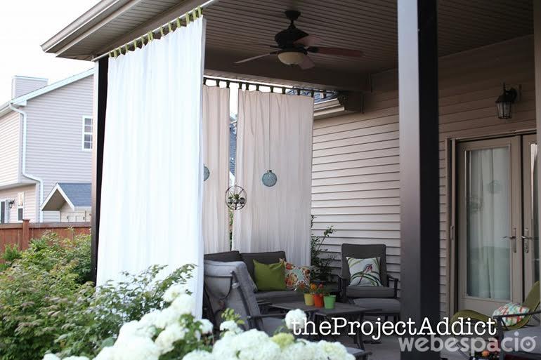 17 ideas para que tus vecinos no invadan tu privacidad for Como hacer una cortina para exterior