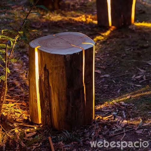 lampara-en-troncos-de-arboles