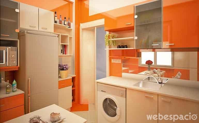 18 cocinas de diferentes colores que desear s tener en tu - Pintura para baldosas de cocina ...