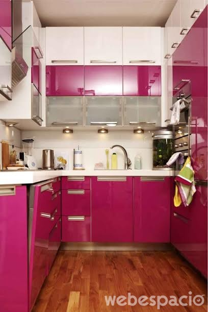 mueble-de-cocina-rosado