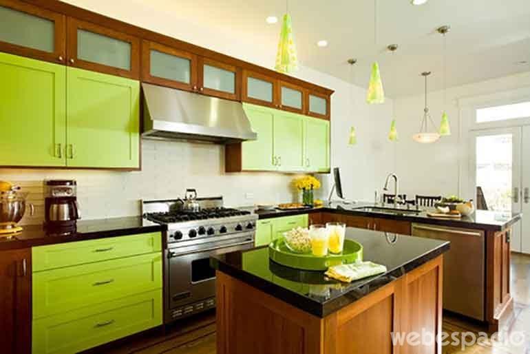 18 Cocinas de diferentes colores que desearás tener en tu casa ahora
