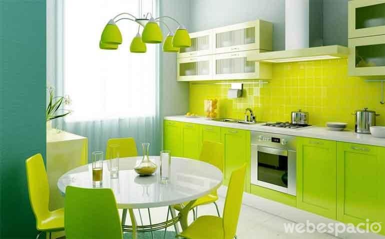 mueble-de-cocina-verde-loro