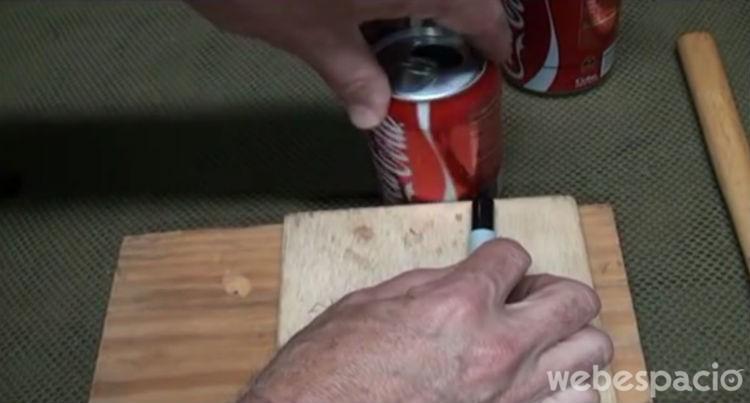 marcar y cortar las latas