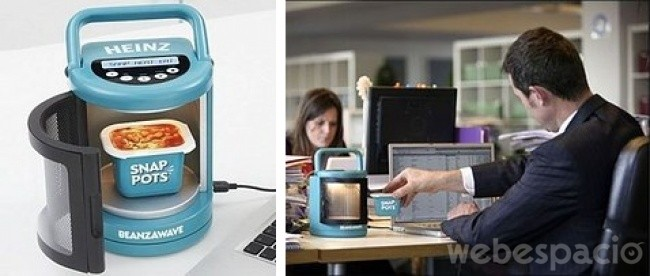 20 inventos creados para hacer de tu oficina el mejor for Horno microondas pequeno