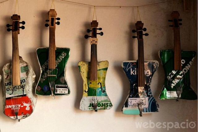 guitarras recicladas
