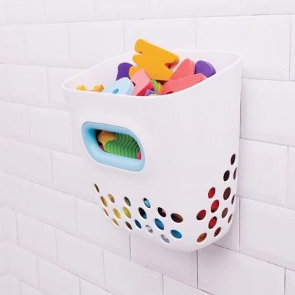 sesta para juguetes de baño blanco